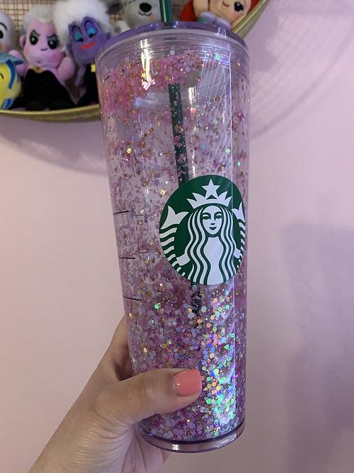 Princess Snow Globe Starbucks Tumbler