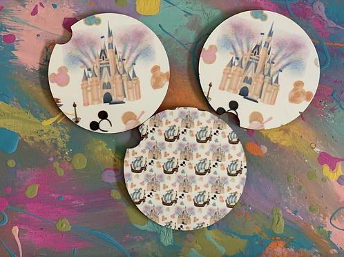 Disney Car Coasters Set of 2