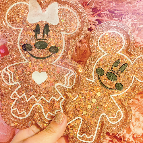 Mickey and Minnie Gingerbread Tray