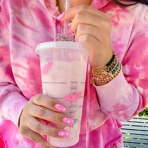 Pink Glitter Halloween Starbucks Tumbler