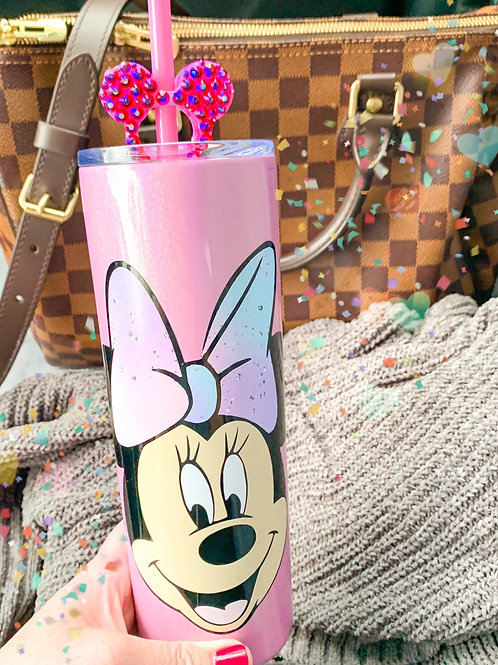 Minnie with Tie Dye Bow Stainless Steel Tumbler