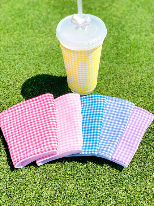Gingham Cup Sleeve