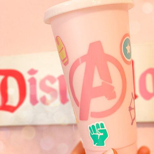 Pastel Avengers Starbucks Tumbler