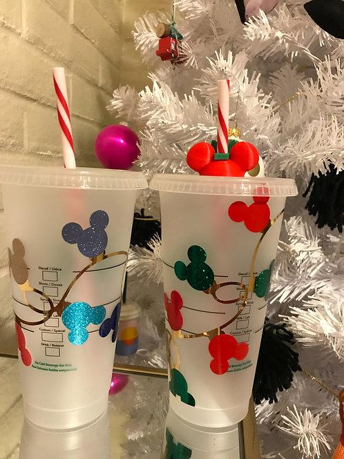 Christmas lights Starbucks cup