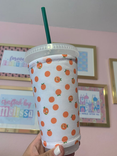 Orange Bird Starbucks Cup Sleeve