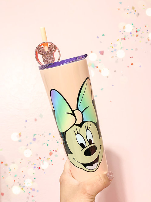 Balloon Topper and Minnie Mouse Stainless Steel Tumbler