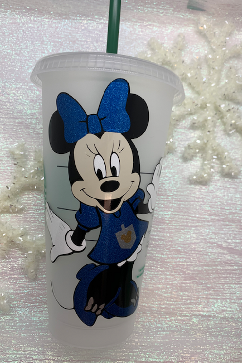 Hanukkah Minnie or Mickey Starbucks Tumbler