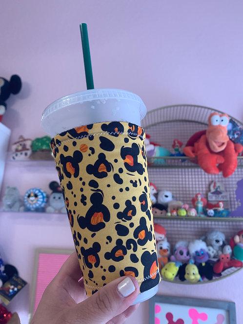 Mickey Leopard Starbucks Cup Sleeve