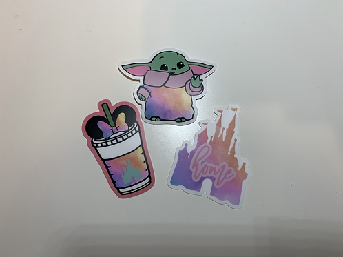 Yoda, SB Tumbler, and Home Stickers