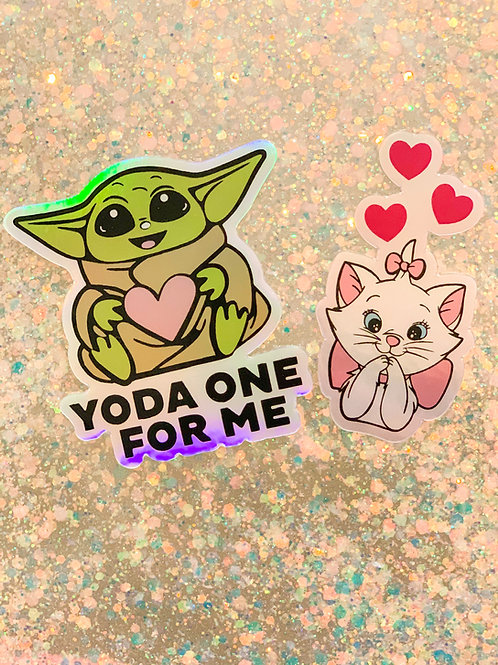 Yoda and Marie Stickers
