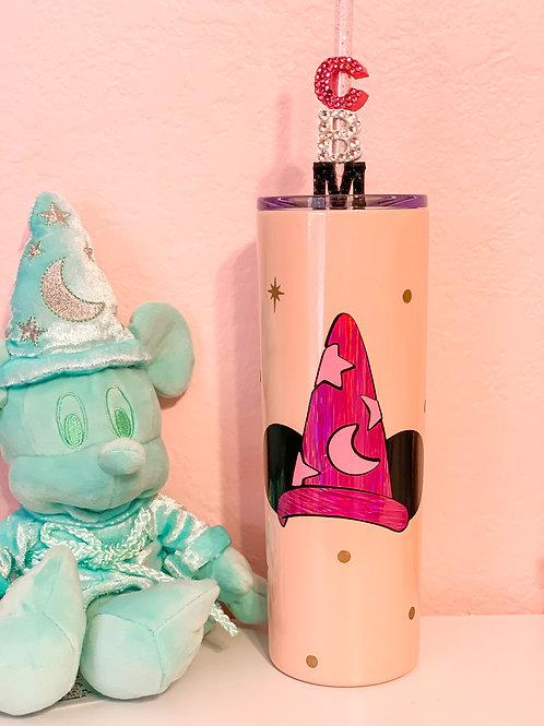 Pink Fantasia Mickey Stainless Steel Tumbler