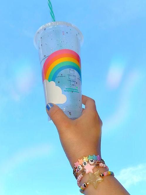 Glitter Rainbow Starbucks Tumbler