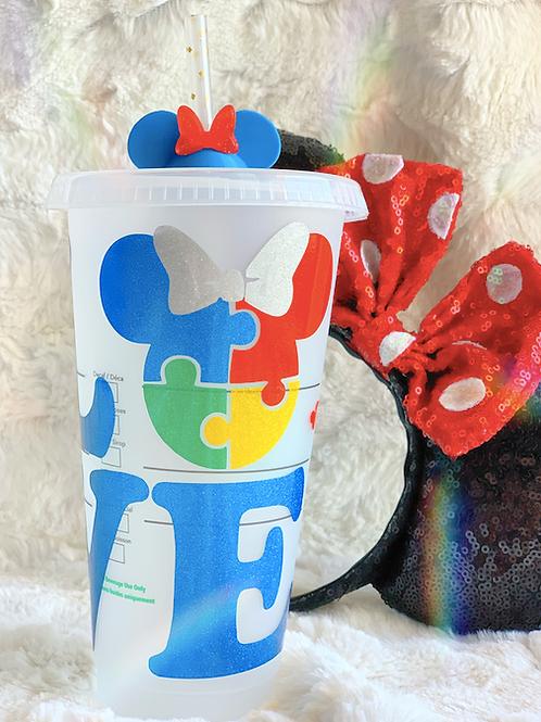 Autism LOVE Starbucks Tumbler