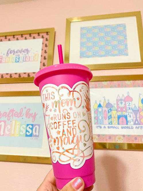 Disney Mom Pink Color Changing Tumbler