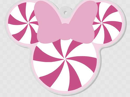 Minnie peppermint ornament/keychain