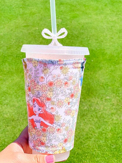 Floral Princesses Cup Sleeve