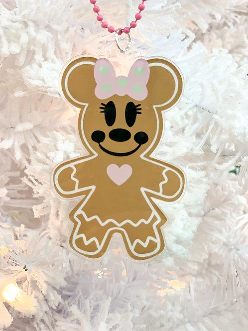 Minnie Gingerbread ornament/keychain