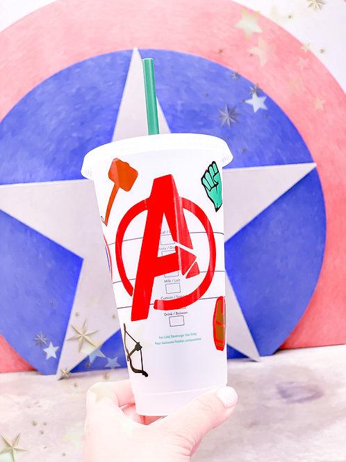 Avengers Starbucks Tumbler