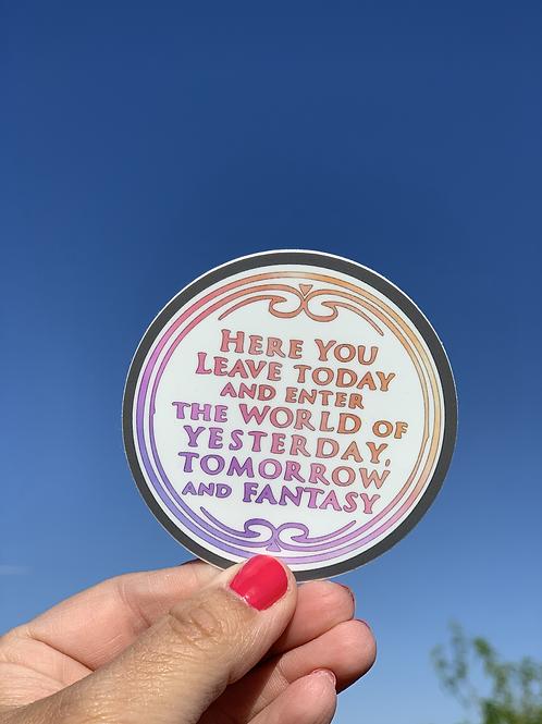 Disney Sign Sticker