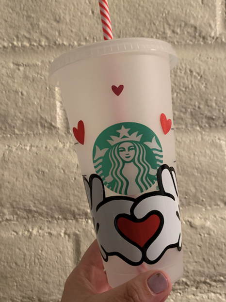 Mickey Love Hands Tumbler
