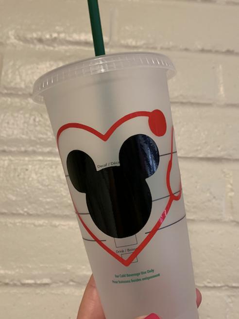 Mickey Heart Medical Starbucks Tumbler