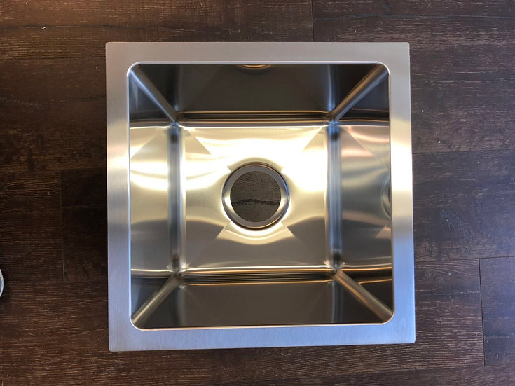 "H1414 - 14""x14""x10"" Stainless Steel Single Bowl Undermount Sink"