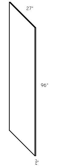 "Refrigerator Panel RRP27 27""x96""x3/4"""