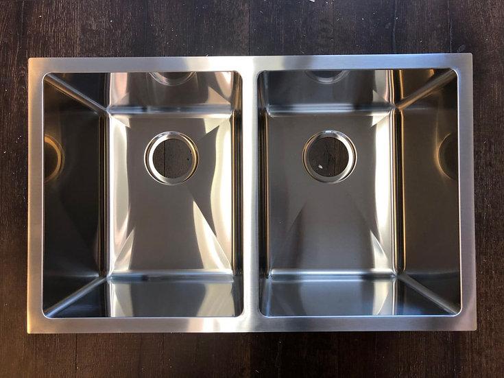 "H2918 - 29""x18""x10"" Stainless Steel Double Bowl Undermount Kitchen Sink"