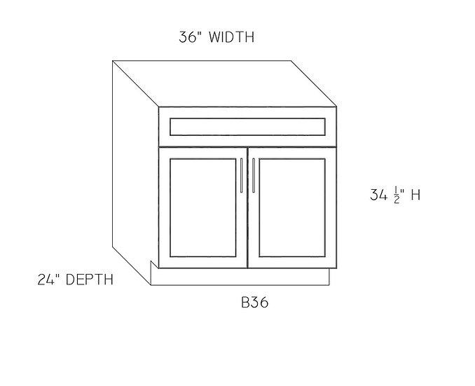 "B36 - Double Door Base Cabinets 36"" W"