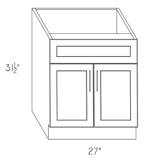 "VAN27 - Sink Base Cabinet 27"""