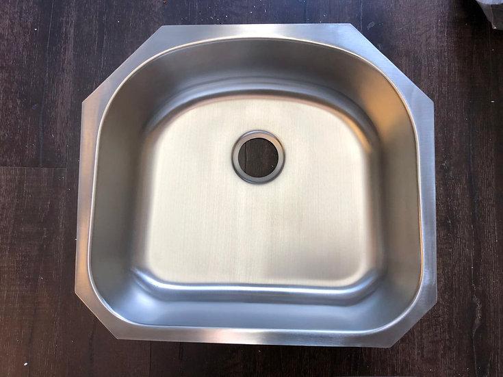 "U2321 - 23""x21""x8"" Stainless Steel Single Bowl Undermount Laundry Sink"