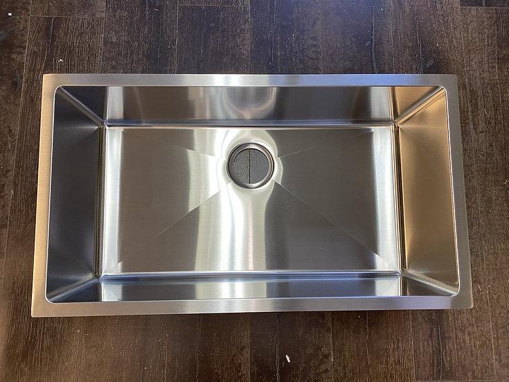 """H3218S - 32""""x18""""x10"""" Stainless Steel Single Bowl Undermount Kitchen Sink"""