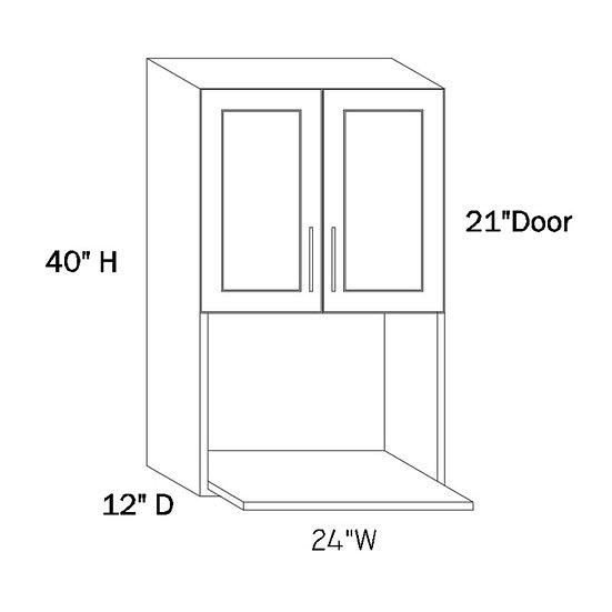 MW2440 - 24″W X 40″H X 12″D