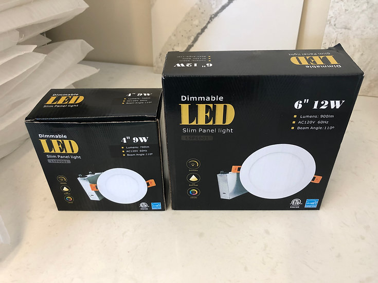 "Dimmable Recessed Light - Slim - 6"" - 12W LED (LSP6001)"