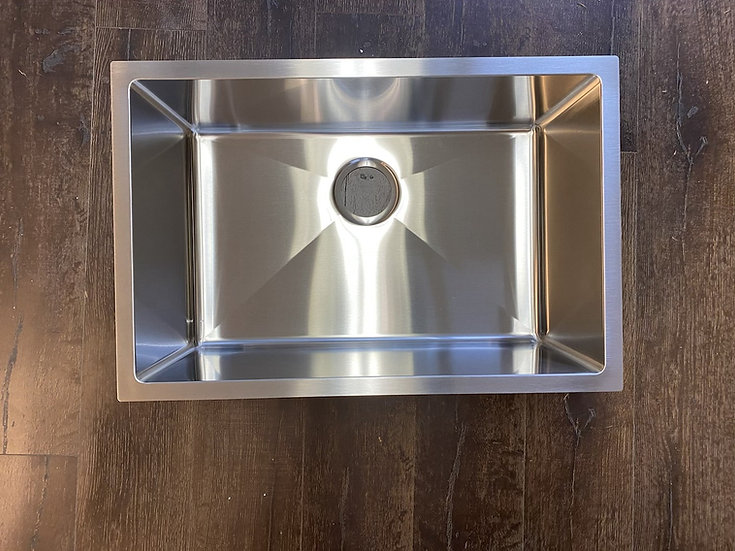 """H2718S - 27""""x18""""x10"""" Stainless Steel Single Bowl Undermount Kitchen Sink"""