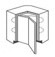 "LZS33 - Corner Lazy Susan Base Cabinets 33"" W"