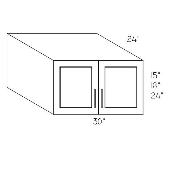 W301524 - 30″W X 15″H X 24″D