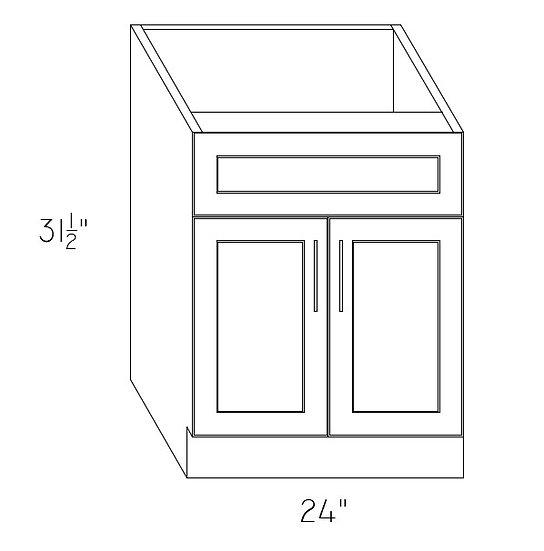 "VAN24 - Sink Base Cabinet 24"""