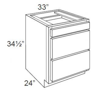 "DB33 - 3 Drawers Cabinets 33"" W"