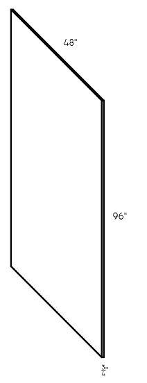 "Full Panel PN9648 96""x48""x3/4"""