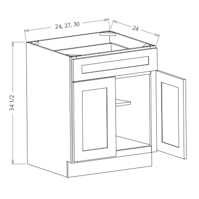 "B30 - Double Door Base Cabinets 30"" W"