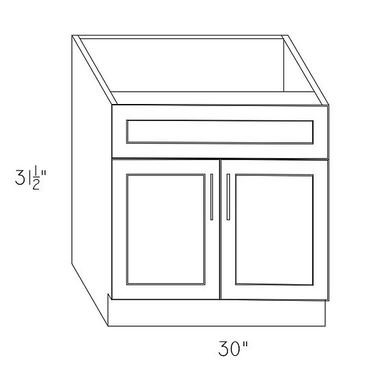 VAN30 - Sink Base Cabinet 30""