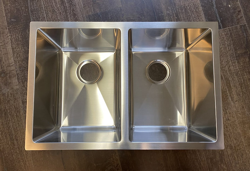 "H2718D - 27""x18""x10"" Stainless Steel Double Bowl Undermount Kitchen Sink"