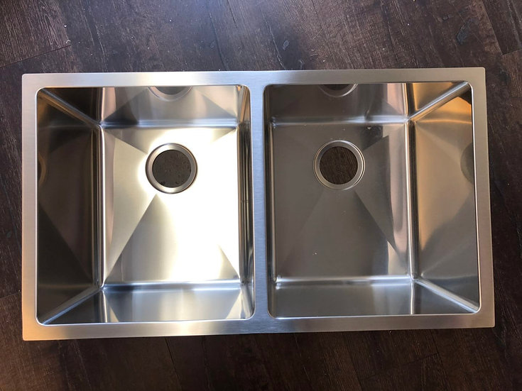 "H3218 - 32""x18""x10"" Stainless Steel Double Bowl Undermount Kitchen Sink"