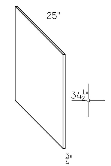 "Base End Panel BEP 36"" x 25.5"""