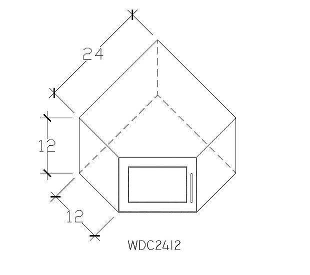 WDC2412 - 24″W X 12″H X 24″D