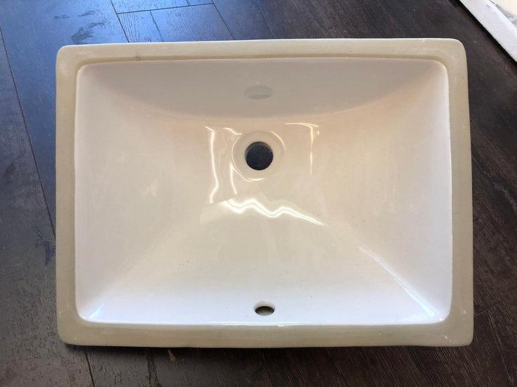 """W018 - 18.25""""x13.5"""" Under-Mount Ceramic Sink"""