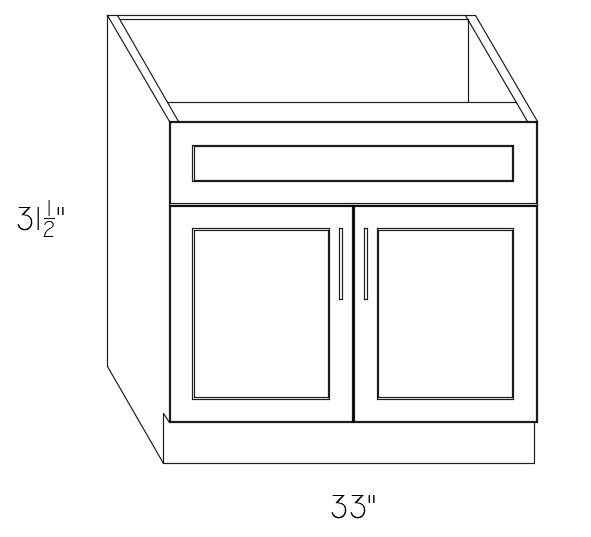 VAN33 - Sink Base Cabinet 33""