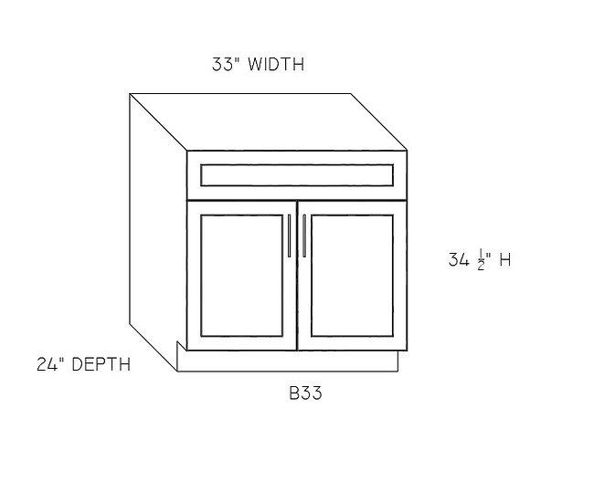 "B33 - Double Door Base Cabinets 33"" W"