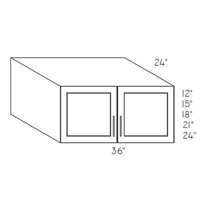 W362124 - 36″W X 21″H X 24″D